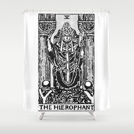 Geometric Tarot Print - The Hierophant Shower Curtain