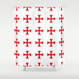 Cross pattée- crusades, templar,patty,templier Shower Curtain