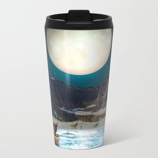 Somewhere You Are Looking At It Too II Metal Travel Mug