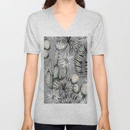 Cactuses with flowers Unisex V-Neck