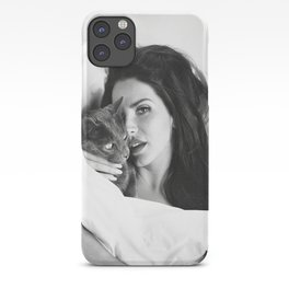 La-na Del Rey with Cat, Stylish print, music icon , gift for her, Print, Poster, iPhone Case