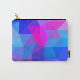 Magenta Blacklight Low Poly Carry-All Pouch