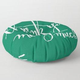 Thank You Merry Much - Green Floor Pillow