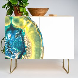 Blue and Yellow Agate Credenza