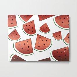 Fresh Watermelon Metal Print
