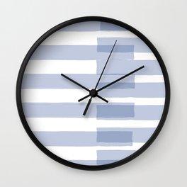 Big Stripes in Light Blue Wall Clock