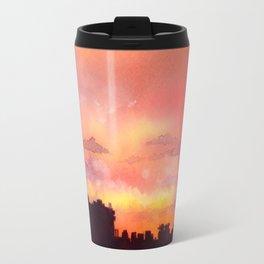 Minsk sunset skyline Travel Mug