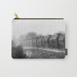 Winter Locomotion Black and White Carry-All Pouch