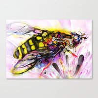 bee Canvas Prints featuring Bee by shadow chen