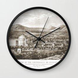 VIRGINIA University map CHARLOTTESVILLE dorm decor graduate Wall Clock