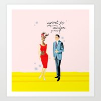 xmas Art Prints featuring xmas by karen owens