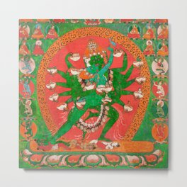 Hevajra Yidam Vajrayana Buddhism Emerald Metal Print