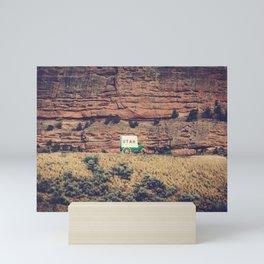 Utah Conestoga wagon State Line Welcome Center Mountain Mini Art Print