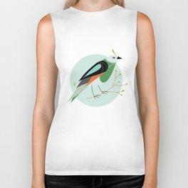 Little Birdy Portrait - Mint Biker Tank