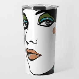 Green Eyeshadow  Travel Mug