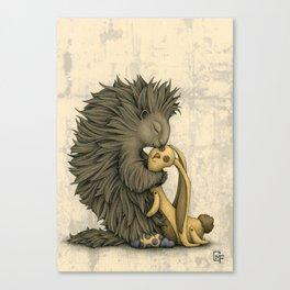 Yellow Bunny Canvas Print