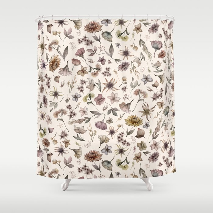 Botanical Study Shower Curtain