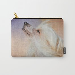 Wind In Her Hair - Chinese Crested Hairless Dog Carry-All Pouch