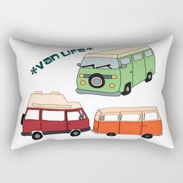 Van Life Camping Traveling Art Rectangular Pillow