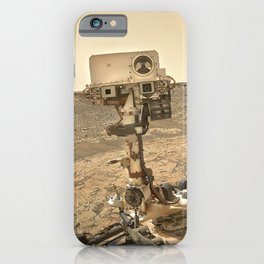 NASA Curiosity — Dust Storm Selfie iPhone Case