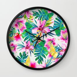 Parrot Beach Wall Clock