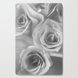 Roses in Black and White Cutting Board