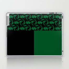 Abstract combo black and green decor Laptop & iPad Skin