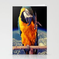 parrot Stationery Cards featuring Parrot by Cs025