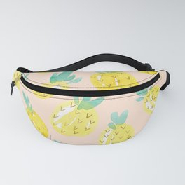 Watercolour Pineapples on Peach Fanny Pack