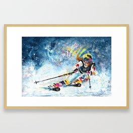 Skiing 03 Framed Art Print