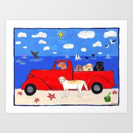 The Salty Dogs Art Print