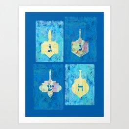 Hanukkah Dreidel Art Print