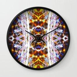 Light Dance Kaleidoscope edit 4 Wall Clock