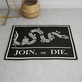 Join or Die Flag Silhouette Rug