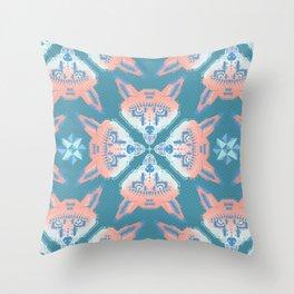 Pastel Fox Pattern Throw Pillow