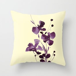 Organic Impressions 334zq by Kathy Morton Stanion Throw Pillow