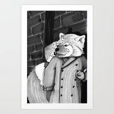 Panda Noir Art Print
