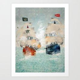 the pirate ship Art Print