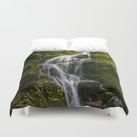 waterfall Duvet Covers featuring Waterfall by Pati Designs