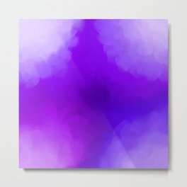 Dreamy Lavender Indigo Clouds Abstract Metal Print