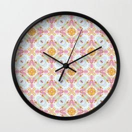 Sweet Vintage-Look Pattern Wall Clock