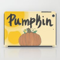pumpkin iPad Cases featuring pumpkin by gasponce