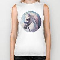 horse Biker Tanks featuring Horse by Slaveika Aladjova