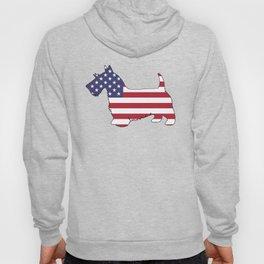 "Scottish Terrier ""American Flag"" Hoody"