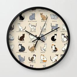 Cat Breeds Wall Clock
