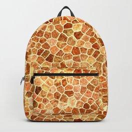 Faux Giraffe Skin Abstract Pattern Backpack