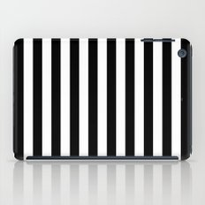 Vertical Stripes (Black/White) iPad Case