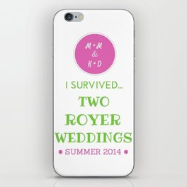 ROYER WEDDING FINAL iPhone Skin