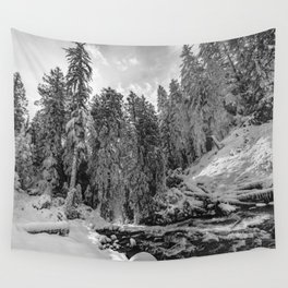 Oregon Adventures Black and White - Nature Photography Wall Tapestry