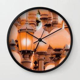 closeup Urban Light LACMA Los Angeles California USA Wall Clock